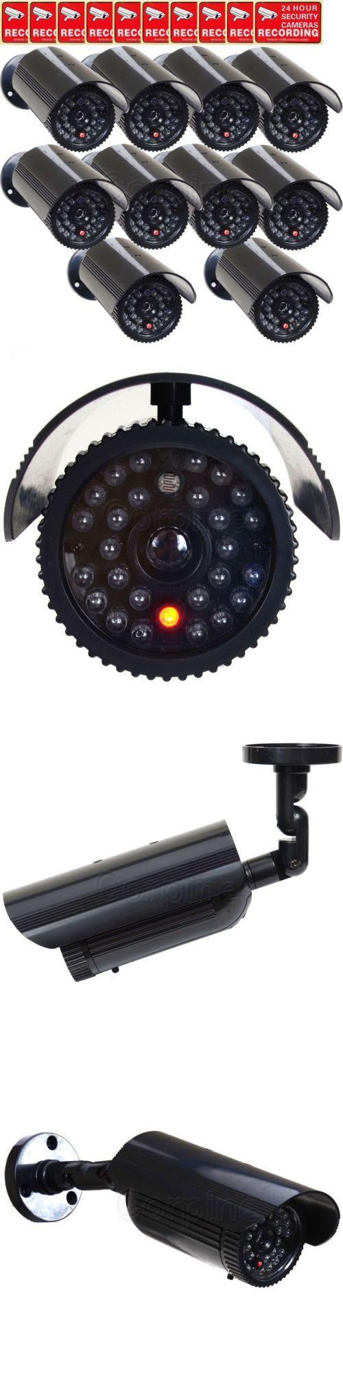 Dummy Cameras: 10X Dummy Security Camera Fake Ir Leds Flashing Light Home Cctv Surveillance Mjx -> BUY IT NOW ONLY: $104.9 on eBay!
