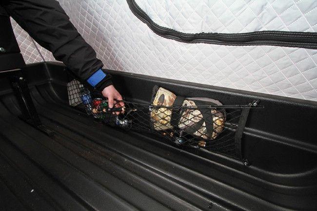 Cargo net storage for the jet sled likes pinterest for Ice fishing sled ideas