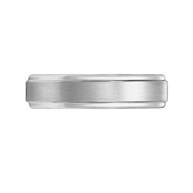 Cherish Always Tungsten Carbide Wedding Band - Men, Size: 12.50, Grey