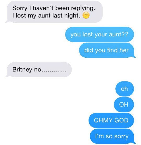On trying to make jokes:   22 Texts You Can Relate To On A Spiritual Level