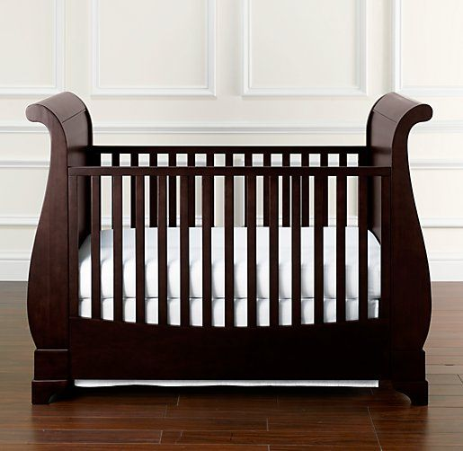 RH Baby Childs Marlowe Sleigh Crib Dramatic Style And Classic Railing Give Our A Distinctive Feel