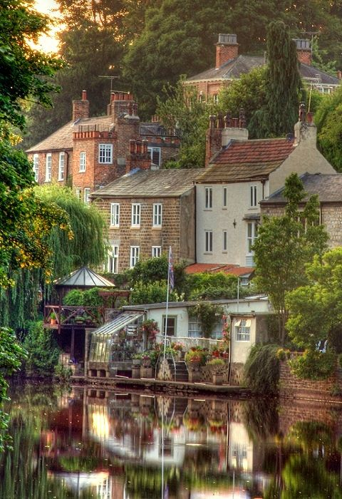 Knaresborough ~ a historic market town with ancient walkways, cobbled alleys and secret passageways in England.