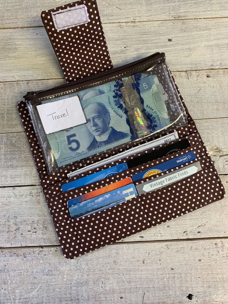 Money Envelope System – Zippered Pockets- Dave Ramsey Cash Envelope System – Money System – Budget Envelopes – Credit Card Holder -Polka Dot