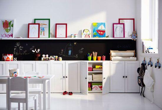 Ikea Stuva + chalkboard for the basement