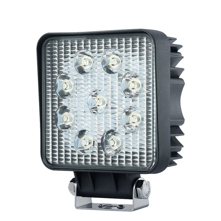 "Pair iMarsâ""¢ iM-L1 27W Flood Beam LED Work Light 6000K IP67 for Truck Boat Square Off Road 4X4"
