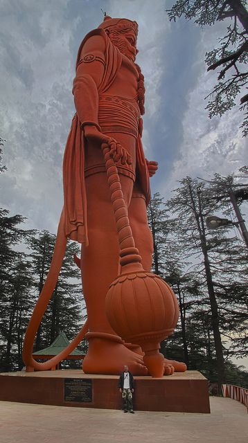God Hanuman, Jackoo Hill - # Shimla, India. Worlds tallest statue of Lord Hanuman