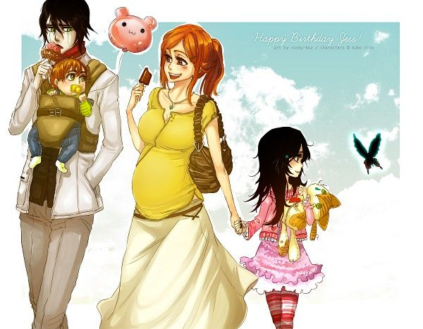 UlquiHime Family | Ulquiorra Cifer / Schiffer x Orihime Inoue from Bleach | UlquiHime | Where The Heart Is | The Bat & Princess | Anime / Manga | OTP