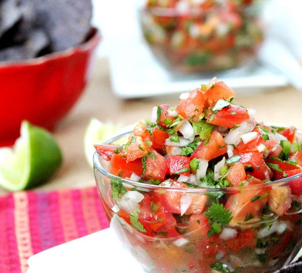 Pico de gallo recipe: Do not add salt, does not need salt to taste good: 3 large Roma tomatoes (chopped) 1 cup chopped onion 2 Jalapeno peppers - chopped (no seeds) ½ cup chopped cilantro ½ teaspoon ground black pepper ½ of a fresh lime or lemon Directions:  In a medium size bowl, add the tomatoes, onion, Jalapeno peppers, cilantro, pepper, and juice from ½ of a lime or lemon. Stir together. Serve chilled as a dip or use as a topping for eggs, salads, tacos, or nachos.