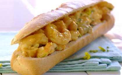 Gourmet Bunny Chow with prawns!  A new twist on a traditional South African dish.