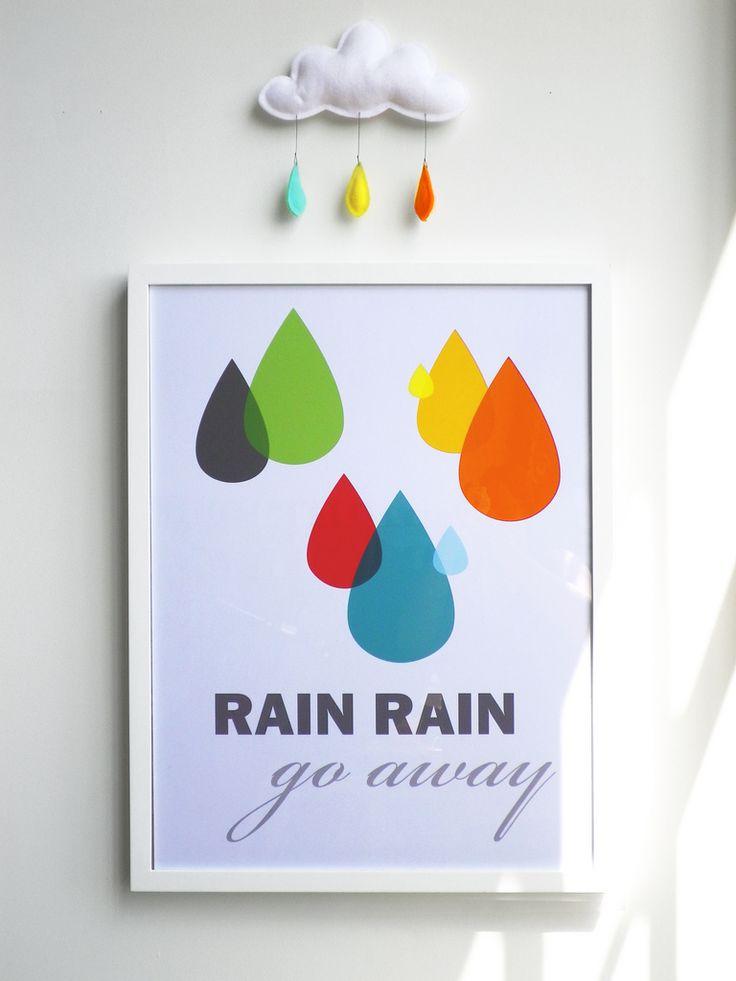 Chuva GO AWAY. Por Dee Adams.Cloudy Rainy, Parks Cities, Posters Prints, Colors, Posters Design, Raindrop, Rain Drops, Rain Rain, Rainrain