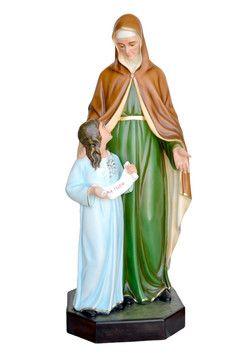 S. Anna  altezza cm. 143 in vetroresina dipinta con colori acrilici e finiture ad olio disponibile anche con occhi di vetro (sia S. Anna che la Madonna)  http://www.ovunqueproteggimi.com/collezione-statue/sante/anna/