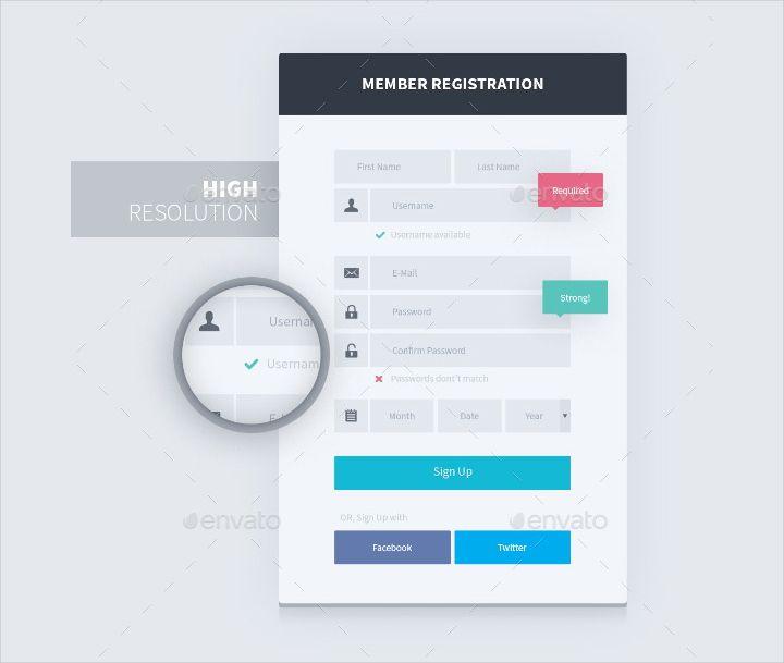 Web Form Design Templates 20 Signup Form Templates Register