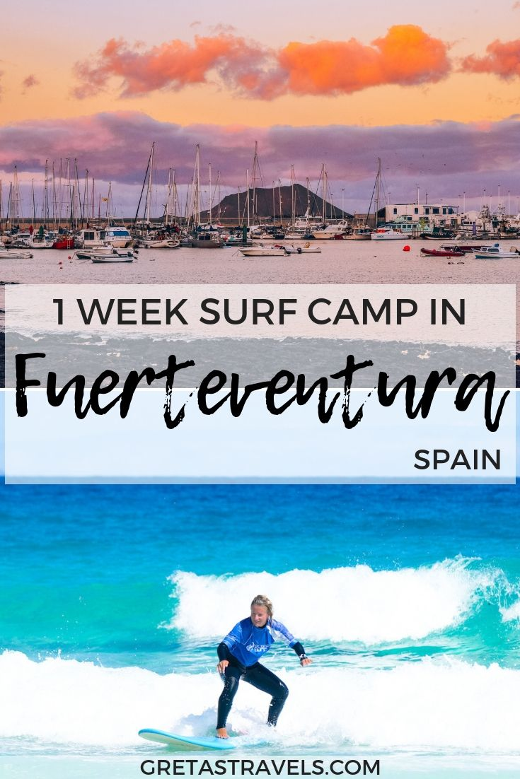 If You Would Like To Learn To Surf Attending A Surf Camp Is The Best Way To Do So We Had The Best Time Surfing In Fuertev Surfing Island Travel Fuerteventura