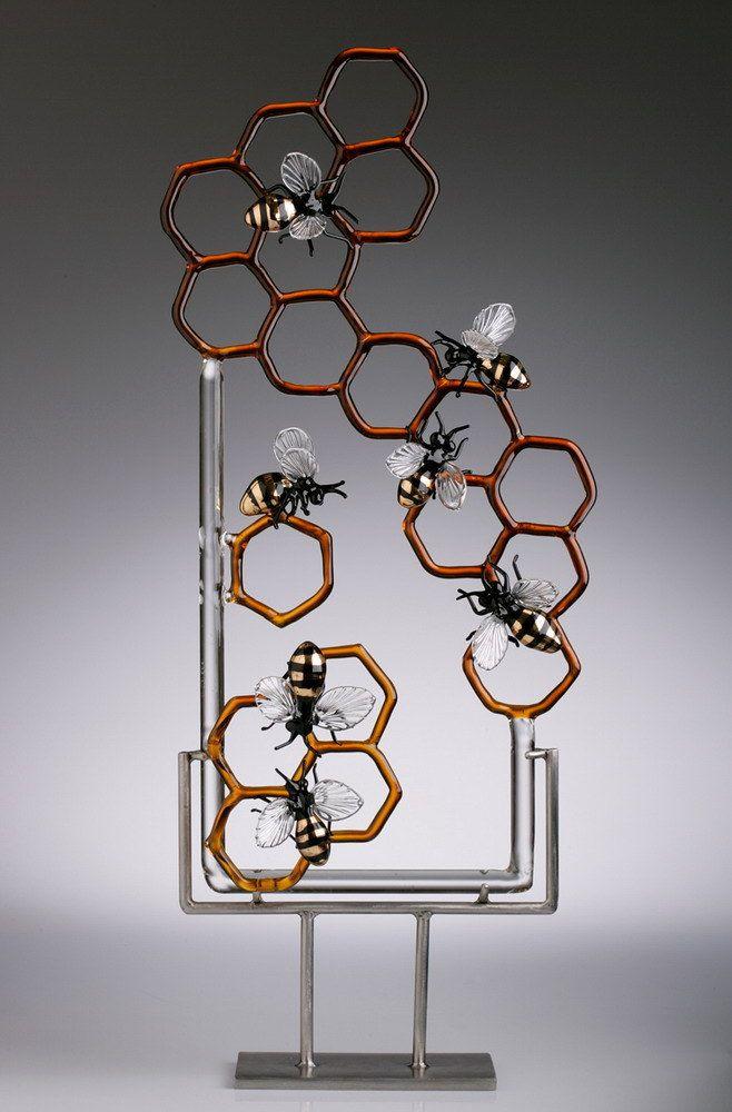 """Glass Bee sculpture-""""Essence"""""""