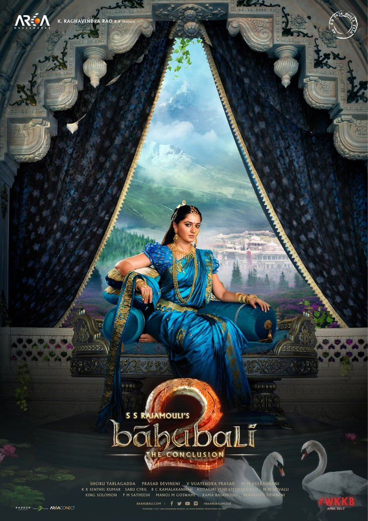 #2DaysToBaahubali2 Majestic poster of #Anushka from #Baahubali2 , Are you excited??