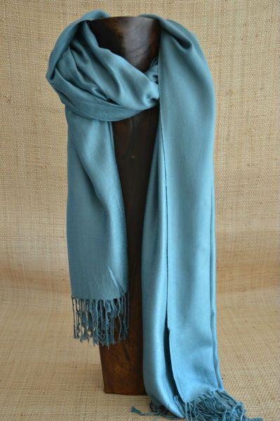 Cashmere Silk Scarf - Azule-4 by VIDA VIDA XkOVJ