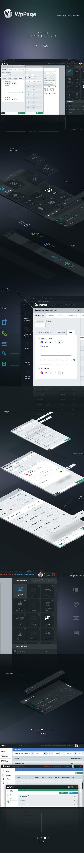 WpPage System – Interface by Yuriy Nagorniy, via Behance
