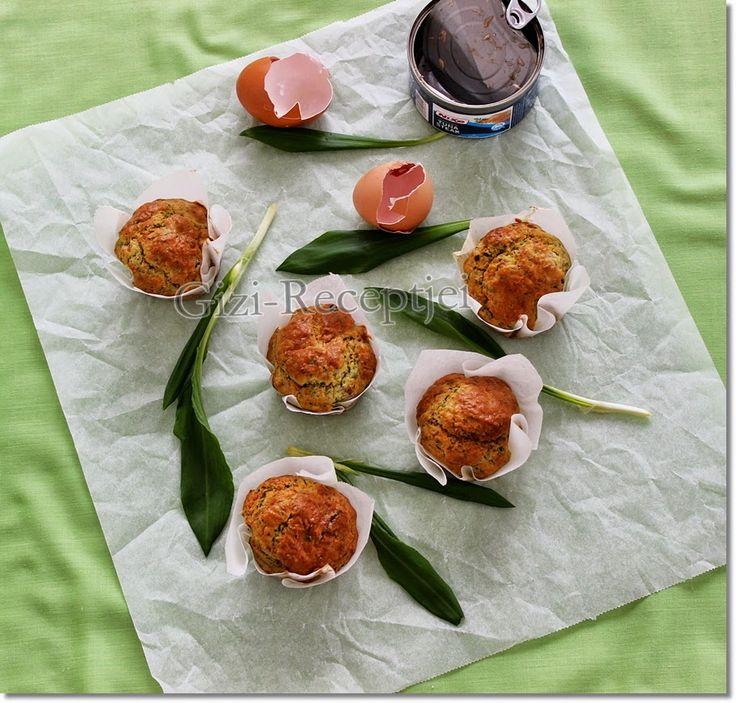 Gizi-receptjei.  Várok mindenkit.: Hétvégi receptajánló!!! Medvehagymás-tonhalas muff...