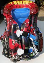 Spiderman niños de natación chaleco salvavidas niño chaleco salvavidas de dibujos animados