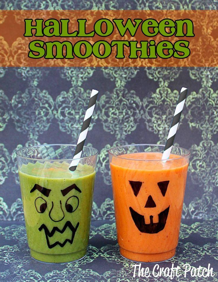 Zielony i pomarańczowy koktajl wpasują się idealnie w klimat Halloween