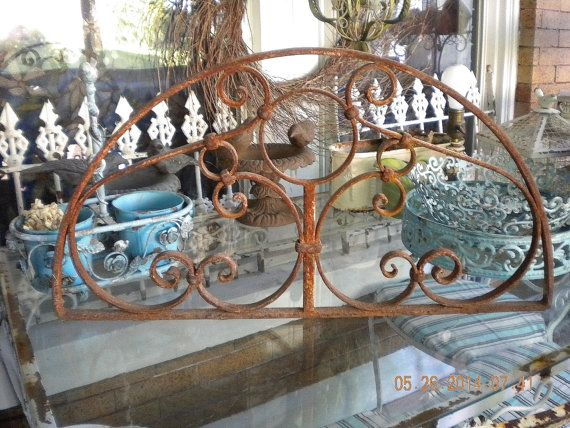 Vintage Architectural Salvage Iron Window Scroll by euromercantile