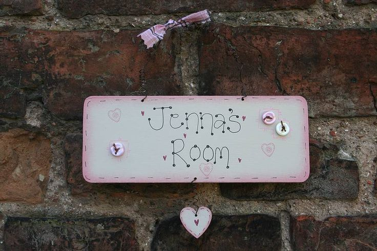 personalised handmade wooden name plate by primitive angel country store | notonthehighstreet.com