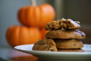Pumpkin chocolate chip cookies, Pumpkin chocolate chips and Chocolate ...