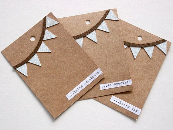 Gift Tag Trio.  ...happy day ...so special ...let's celebrate Handmade by Melliemakes.