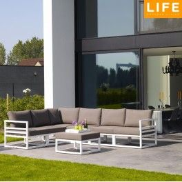 Fabri loungeset white Life Outdoor Living