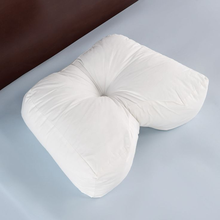 The Side Sleeper's Ergonomic Pillow - Hammacher Schlemmer. I'm interested to try this one, as it seems firm and supportive in the right places. Bed Bath and Beyond has a similar pillow (also pinned).