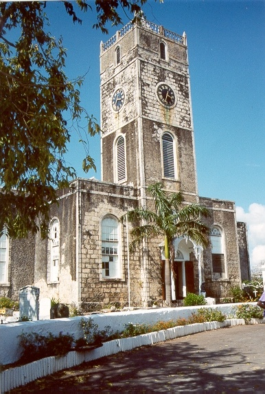 St. Peter's Anglican Church, Duke Street, Falmouth, Trelawny, Jamaica. View from Duke street on the north  2010