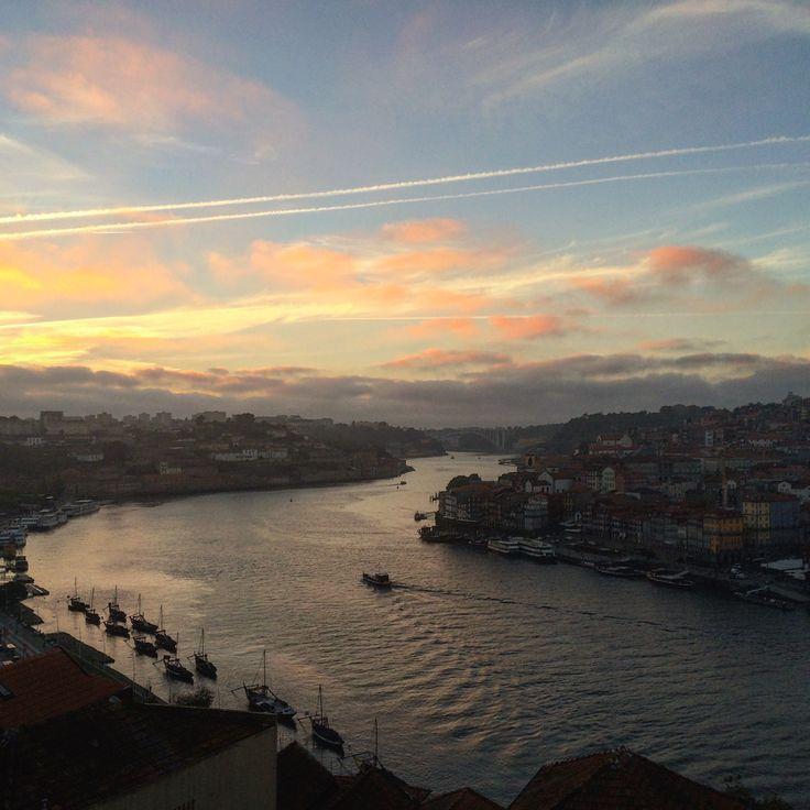 Beautiful sunset Porto Portugal
