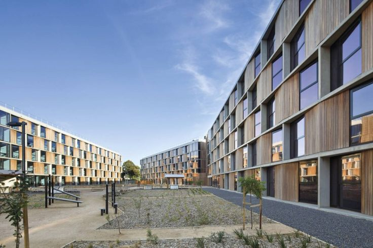 Monash University Student Housing / BVN the simplicity of the concept is clear. Using the super structure and the alternating apartment module to create the form and identity. It doesn't rely on any extras
