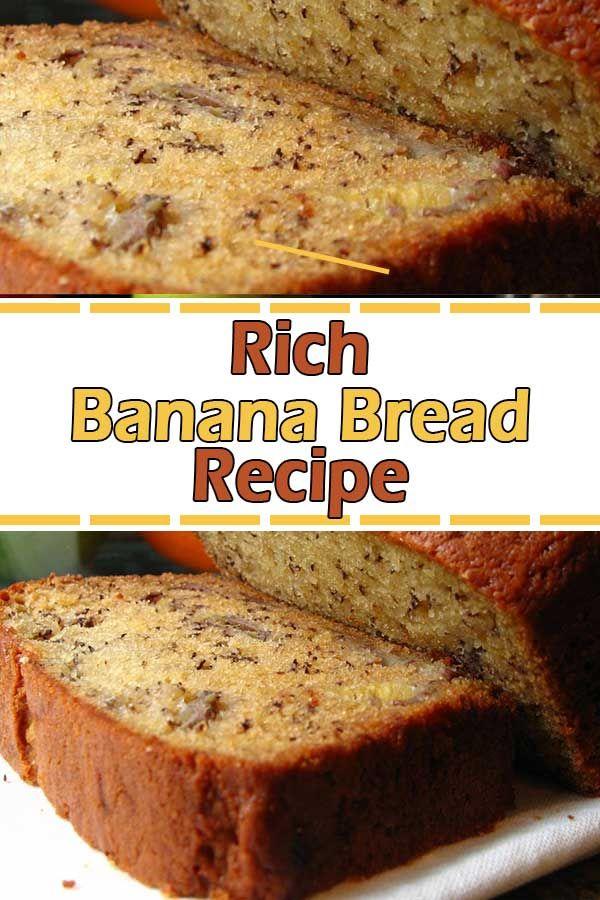 Rich Banana Bread Recipe Pinterest Banana Bread Recipe Moist Rich Banana Bread Banana Nut Bread Recipe