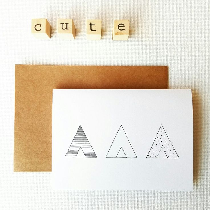 Let's start the week with a cute new card: this tipi card is available now in my shop! #sweetandmellow