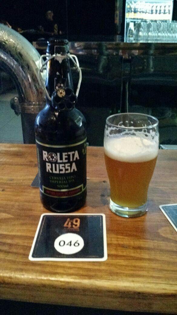 Roleta Russa, Imperial IPA. The 49, Dourados-MS.