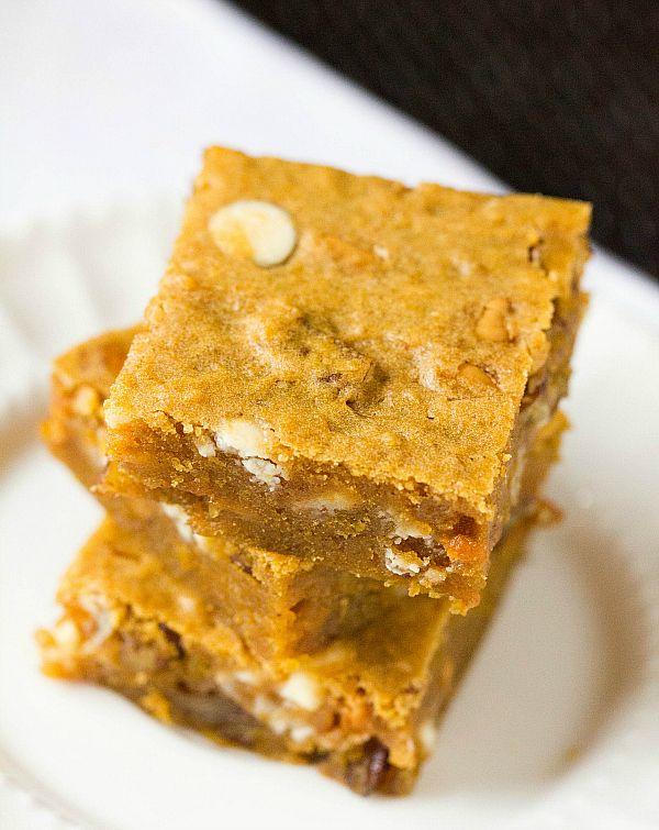 "Pumpkin Blondies.. maybe, ""Pumpkin Orangies""! #sweettreats #recipe"