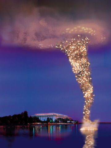Cai Guo Qiang...the Chinese artist who uses fire as his medium.