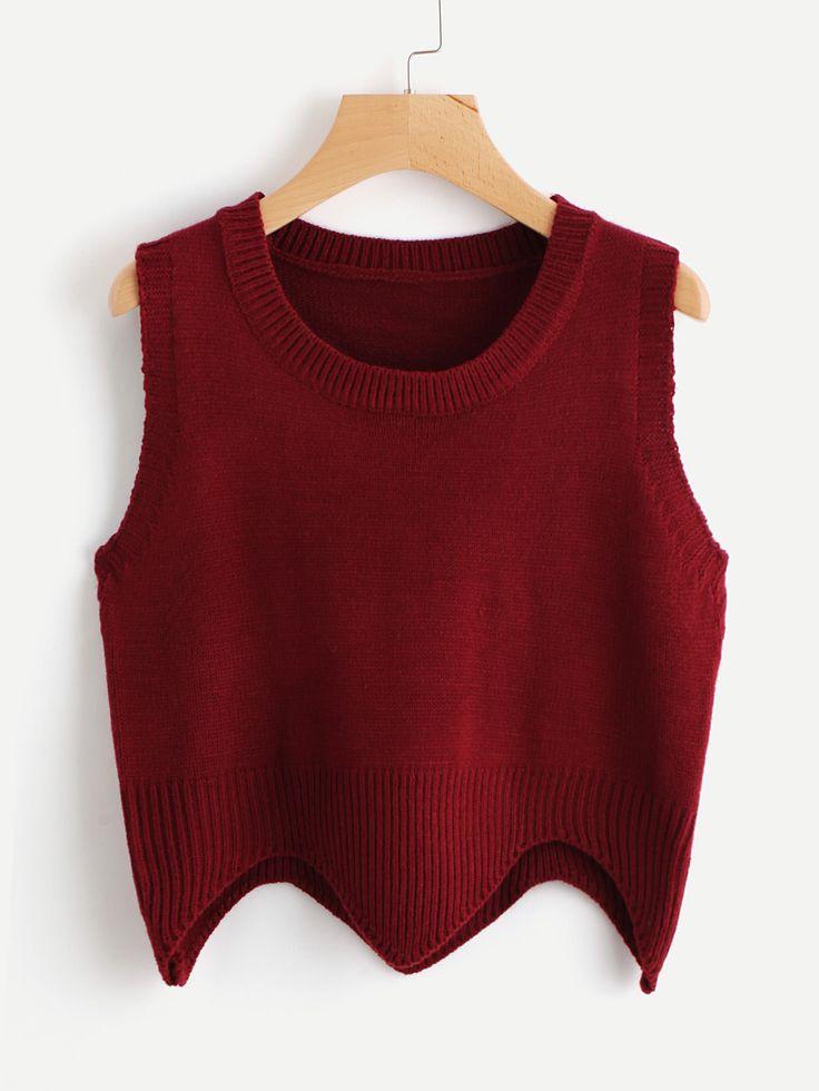 Shop Wave Hem Sweater Vest online. SheIn offers Wave Hem Sweater Vest & more to fit your fashionable needs.