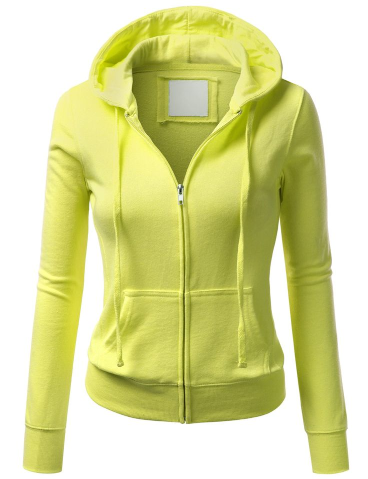 Womens Thin Zip-Up Hoodie #doublju | Outer Fab☔⛄ | Pinterest ...