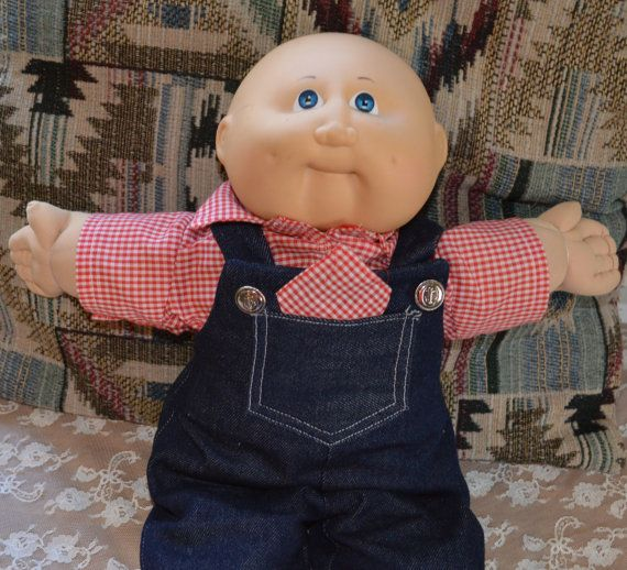 Vintage 1982 Cabbage Patch Kid  Boy Doll //Little Farmer Boy Doll / Collectible Doll