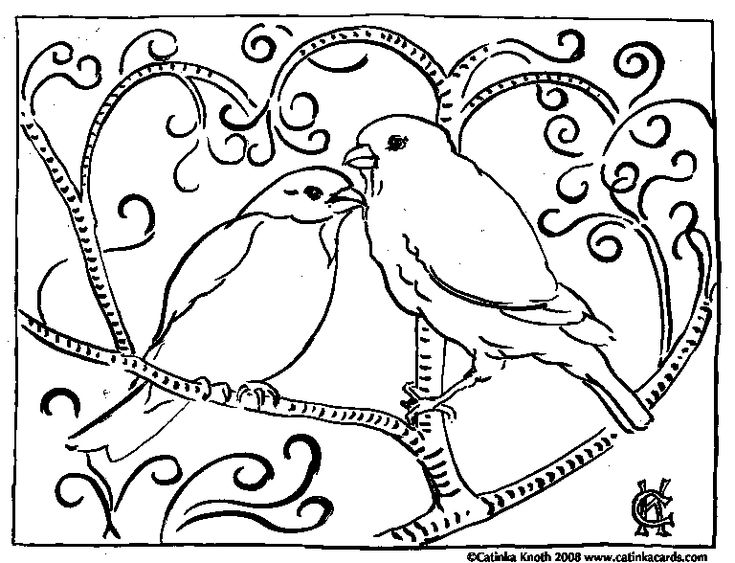 beautiful free valentines coloring pages - photo#49
