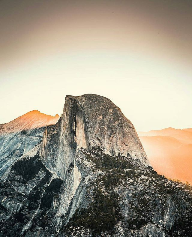 Half Dome morning light - captured by @gramajose_ (awesome capture! Thanks for tagging Yosemite Nation)