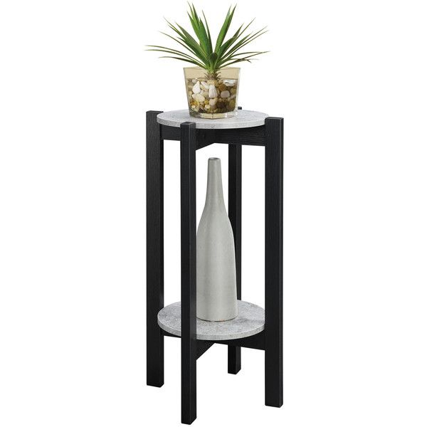 Newport Deluxe Plant Stand Convenience Concepts Indoor Plant Stands... ❤ liked on Polyvore featuring home, home decor, convenience concepts, indoor artificial plants and fake indoor plants