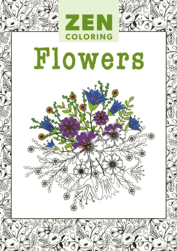 Zen Flowers Adult Coloring Activity Book
