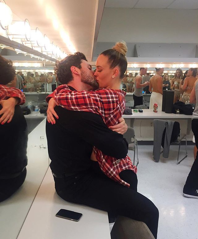 Pin for Later: Maksim Chmerkovskiy and Peta Murgatroyd's Romance Is as Sexy as Their Dance Moves  Peta showed her support for Maksim on the opening night of his tour in June 2016.