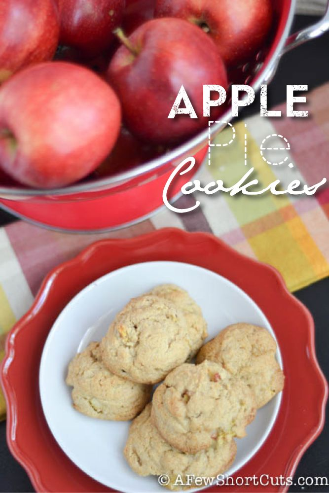 Apple Pie Cookies #Recipe Make a sweet cream glaze with coffee Creamer to top them off