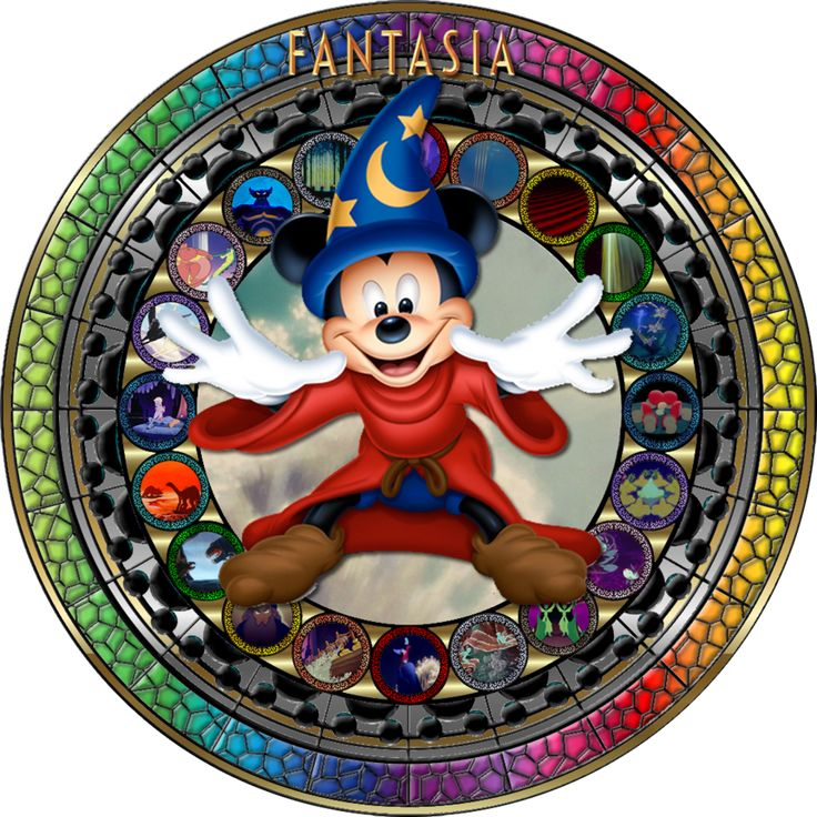 Masterpiece Fantasia (1940) Stained Glass by Maleficent84.deviantart.com on @deviantART