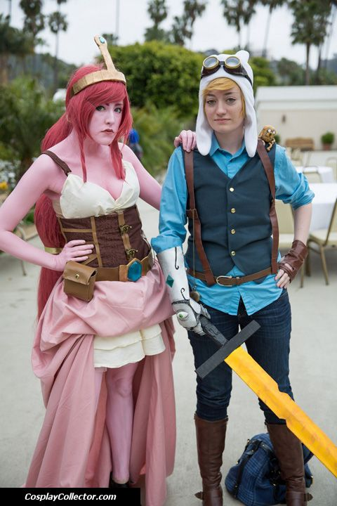 Princess Bubblegum and Finn - Anime Conji 2013 What time is it?! Steampunk Adventure Time!