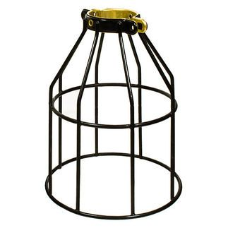 cheap metal cage lights. Links at this page: http://grassrootsmodern.com/blog/2011/01/06/vintage-cage-lights PLT MC200 - Metal Lamp Guard - Black - Replacement Cage